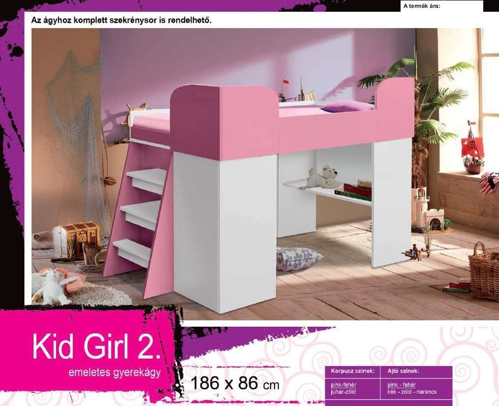 Kid Girl 2 emeleteságy